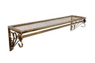 vintage style rail with shelf shabby chic rack garment