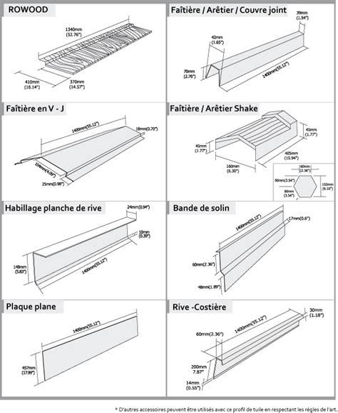 Dimension Tuile by Tuile Acier Rowood Fabricant Roser Toutes Les