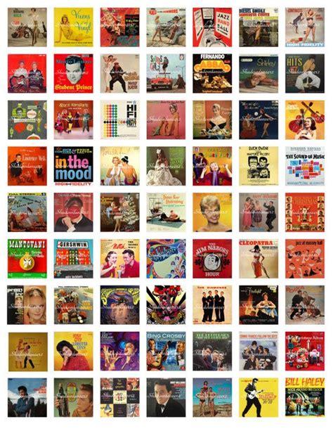 Vintage Album Covers Printable Digital Collage By