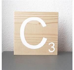 Lettre En Bois A Poser : lettre en bois naturel poser ~ Teatrodelosmanantiales.com Idées de Décoration