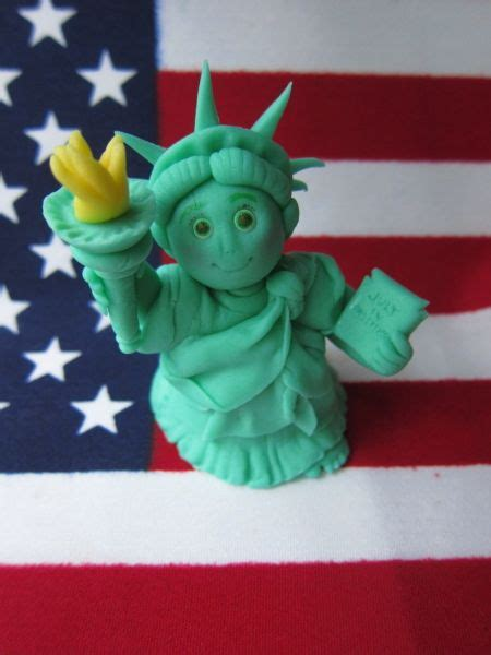 statue  liberty polymer clay characters