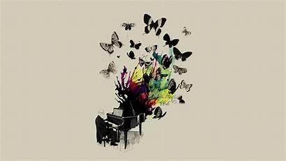 Artistic Piano Cool Wallpapers Butterfly Butterflies Desktop