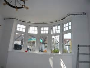Ceiling Curtain Rods Bay Window