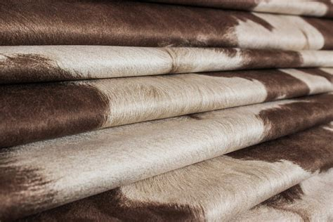 Faux Cowhide Fabric For Upholstery by Suede Cowhide Fabric Brown White The Fabric Mill