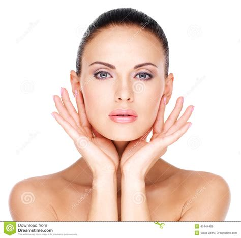 Beautiful Face Of The Young Pretty Woman With Fresh Skin
