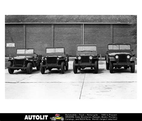 military jeep side military jeep ma mb m38 m38a1 photo poster the cj2a
