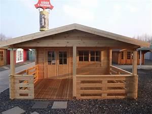 Gartenhaus hugo 54 5 0 x 4 0m 3m terrasse und for Terrassenüberdachung 4 x 5