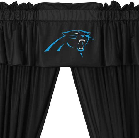 Carolina Panthers Bedroom Curtains by Nfl Carolina Panthers 5 Curtains And Valance Set