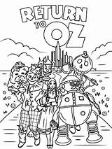 Wizard Oz Coloring Pages Emerald Printable Cartoon Getcolorings Recommended sketch template
