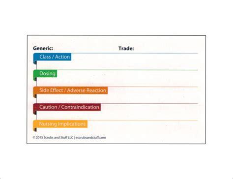 medication card template 9 index card templates jpg vector eps illustrator