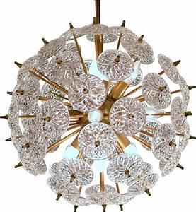Lustre En Cuivre : lustre snowball en cuivre et crystal emil stejnar 1960s design market ~ Teatrodelosmanantiales.com Idées de Décoration