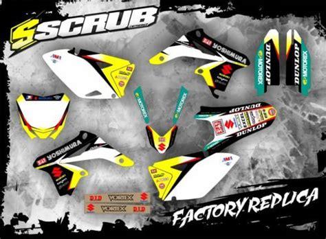 suzuki graphics decals kit rmz    scrub designz stickers    level project