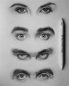 realistic eyes drawing by klimdashaa