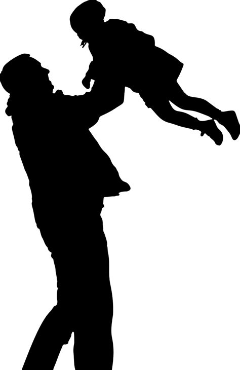 Dad clipart silhouette, Dad silhouette Transparent FREE