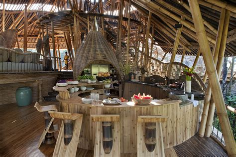 dramatic bamboo house  bali idesignarch interior