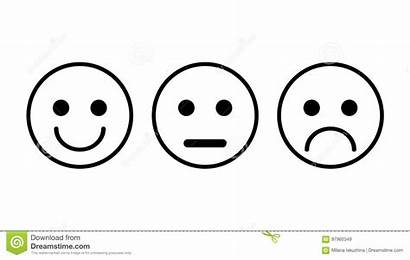 Smiley Face Straight Clipart Frowny Sad Neutral