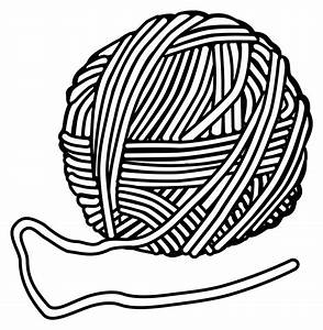 Clipart Yarn And Knitting Needles - ClipartXtras