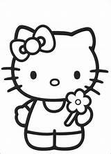 Kitty Hello Measles Coloring Para Template Da sketch template
