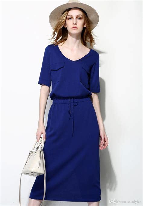 lady summer dresses smart casual dresses  neck