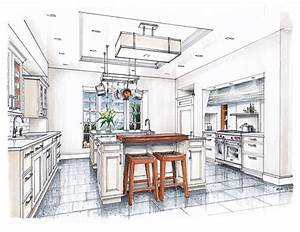 new beaux arts kitchen rendering sketches interior With kitchen colors with white cabinets with dessins crayon papier