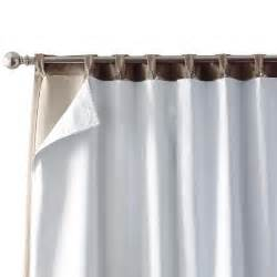 home decorators collection white blackout back tab curtain
