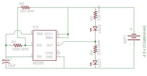 praktek 2 led flip flop dengan ic 555 cara mudah belajar elektronika digital