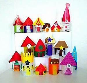 Adventskalender Selber Bauen : bild 5 adventskalender basteln h user auf kartons positionieren ~ Orissabook.com Haus und Dekorationen