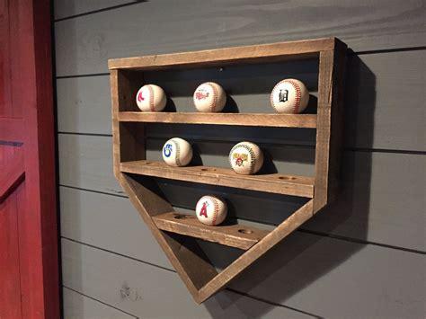 baseball shelf wooden home plate baseball organizer etsy baseball shelf display shelves