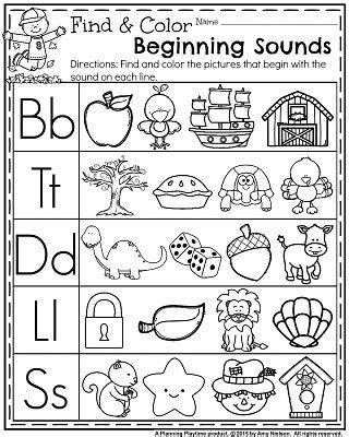 letter  beginning sound worksheet schematic  wiring
