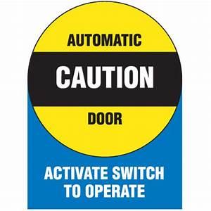 Automatic Door Signs - Automatic Door Seton