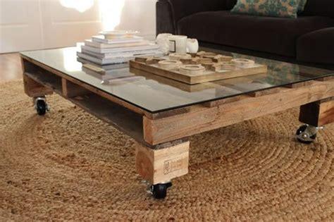 Table basse palette et verre - Allovitres le blog du00e9co