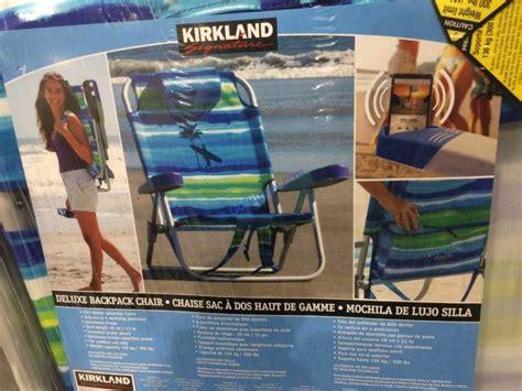 kirkland signature deluxe backpack beach chair costcochaser