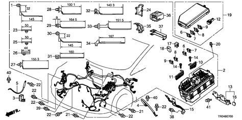 2012 Honda Civic Transmission Wire Diagram by 32200 Tr0 A00 Genuine Honda Wire Harness Engine Room