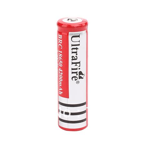 ultrafire rechargeable battery for led flashlight 3 7v 4200mah with button top brc 18650
