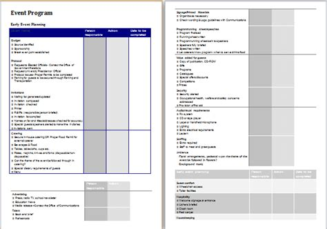 Event Template Event Planner Template At Http Worddox Org Event Planner