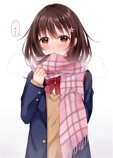 foto de Manga Fille Cheveux Long Brun Coiffures Cheveux Longs