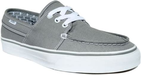 Vans Hull Boat Shoes by Vans Hull Canvas Boat Shoes In Gray For Grey Lyst