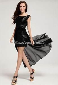 robe de cocktail courte noire en mousseline et faux cuir With robe de cocktail combiné avec bracelet cuir noir