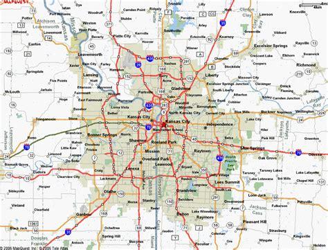 Map Of Kansas And Missouri - HolidayMapQ.com