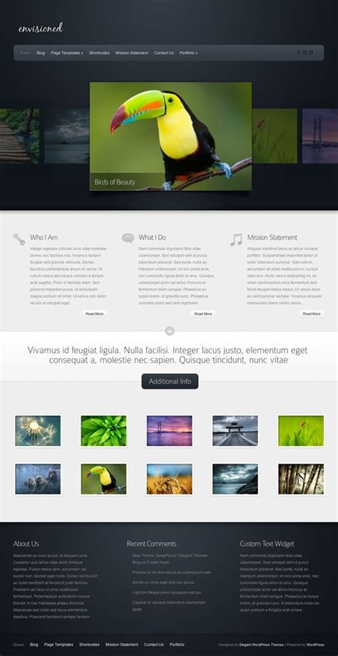 Envisioned Theme Review   ElegantThemes.com