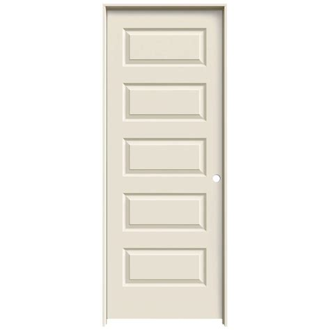 home depot hollow interior doors jeld wen 24 in x 80 in molded smooth 5 panel primed