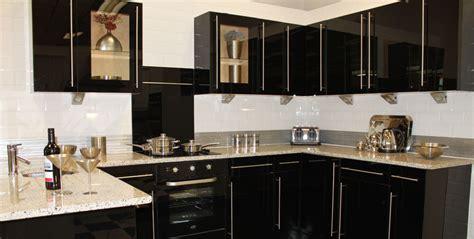 black gloss kitchen ideas black high gloss kitchen