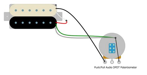 Coil Splitting Humbucker Pickup With Push Pull Pot