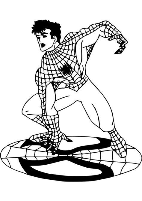 coloriage spiderman format
