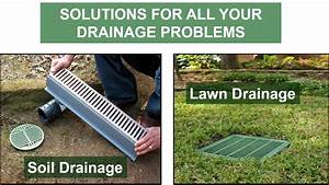 Backyard water drainage solutions Outdoor furniture