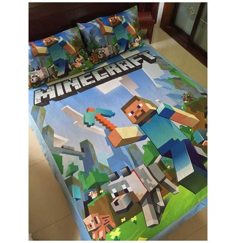 minecraft bedding sets cartoon minecraft duvet cover set
