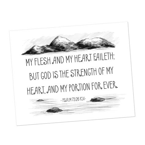 10 finally, my brethren, be strong in the lord, and in the power of his might. Heart and Flesh Fail - KJV Bible Verse Download - Sparrow Springs