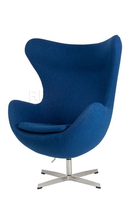 egg chair  blue replica arne jacobsen egg lounge chair