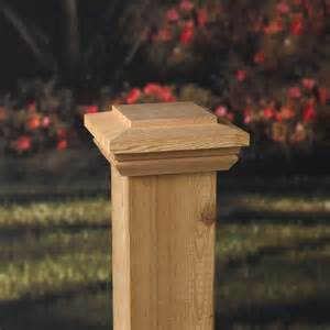 deckorators 4x4 hatteras flat top cedar post cap at diy home center