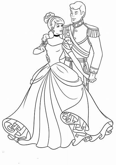 Cinderella Coloring Pages Cartoon